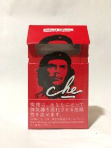 頭が切れないよう工夫されたチェ・レッドのパッケージの写真