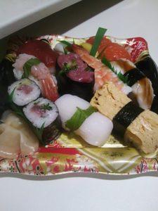 イオンの火曜市で買ったお寿司の写真