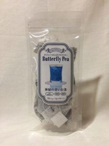 インスタ映えする青いお茶(バタフライピーティー)のパッケージ写真
