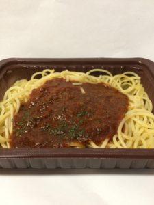 ローソンセレクトの冷凍スパゲティミートソースの中身の写真