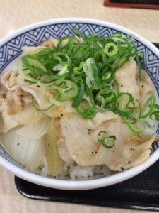 吉野家のねぎ塩豚丼(2018)の写真