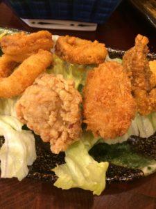 錦糸町楽天地の海鮮まことで食べたミックスフライの写真