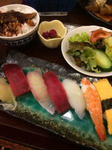 錦糸町楽天地の海鮮まことで食べたまことセットの写真
