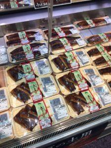 イオンの鮮魚コーナーの国産うなぎの写真
