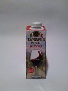 紙パック入りワイン(タヴェルネッロ・ピッコロ・ロッソ)の写真