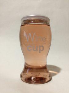 デ・アンジェリ社(イタリア)のカップワイン(ロゼ)の写真