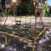 桜の花の咲く公園(江東区)の写真